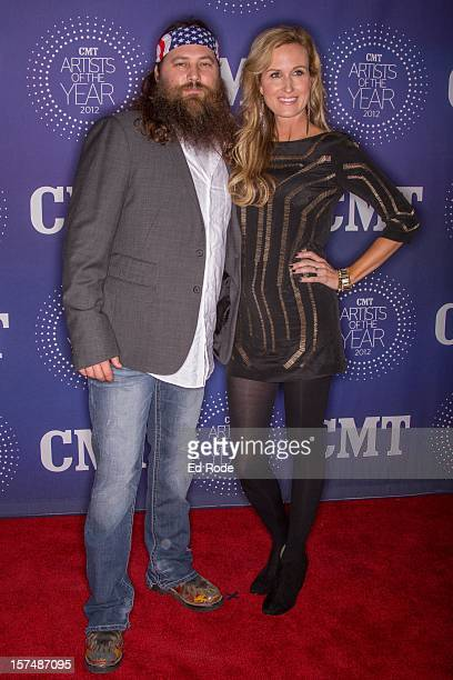 Willie Robertson and Korie Robertson attend the CMT Artist of the Year Awards at The Factory At Franklin on December 3 2012 in Franklin Tennessee