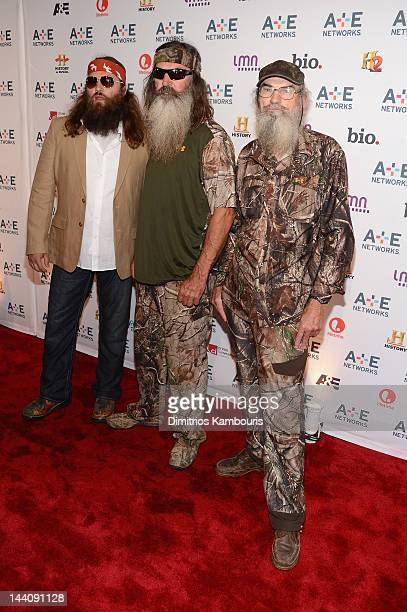 Willie Robertson Phil Robertson and Si Robertson of Duck Dynasty attend the AE Networks 2012 Upfront at Lincoln Center on May 9 2012 in New York City