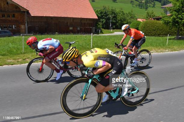 Willie Smit of South Africa and Team Katusha Alpecin / Bert Jan Lindeman of The Netherlands and Team Jumbo - Visma / Ryan Anderson of Canada and Team...