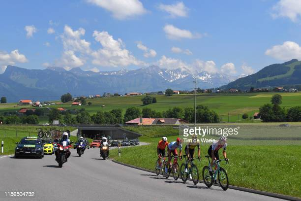 Willie Smit of South Africa and Team Katusha Alpecin / Simon Pellaud of Switzerland and Team Switzerland / Bert Jan Lindeman of The Netherlands and...