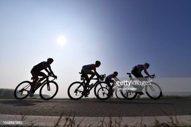 Willie Smit of South Africa and Team KatushaAlpecin / Thomas De Gendt of Belgium and Team Lotto Soudal / Krists Neilands of Latvia and Team Israel...