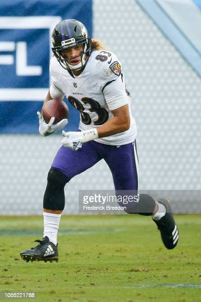 Willie Snead IV of the Baltimore Ravens plays against the Tennessee Titans at Nissan Stadium on October 14 2018 in Nashville Tennessee