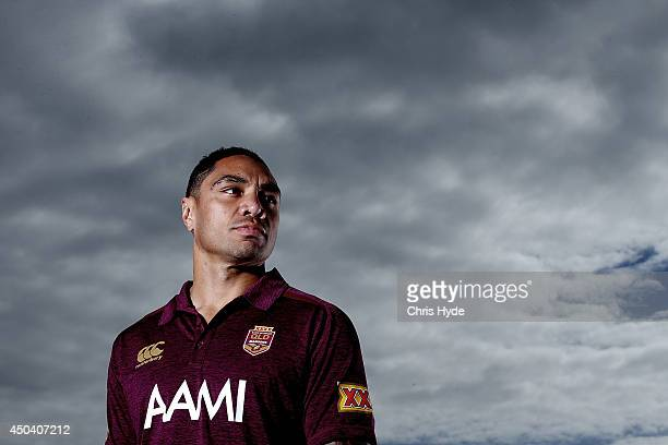 Willie Tonga poses during a Queensland Maroons State of Origin media session at Sanctuary Cove on June 11 2014 in Gold Coast Australia