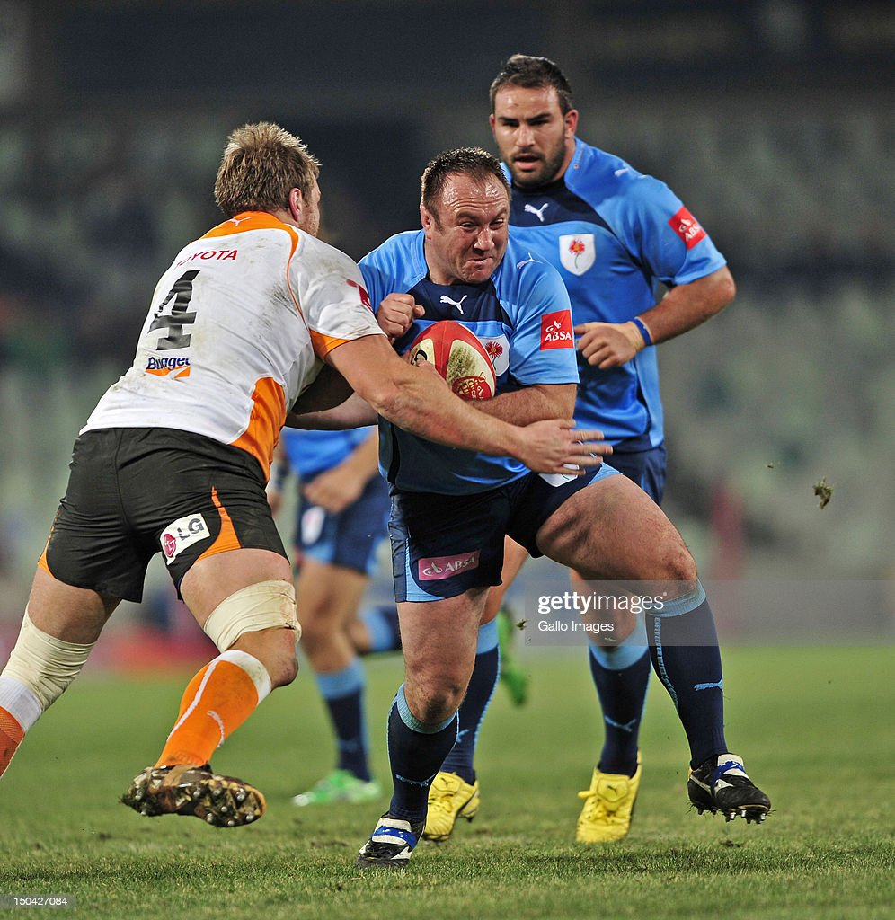 Willie Wepener of the Blue Bulls during the Absa Currie Cup match between Toyota Free State Cheetahs and Vodacom Blue Bulls at Free State Stadium on August 17, 2012 in Bloemfontein, South Africa.