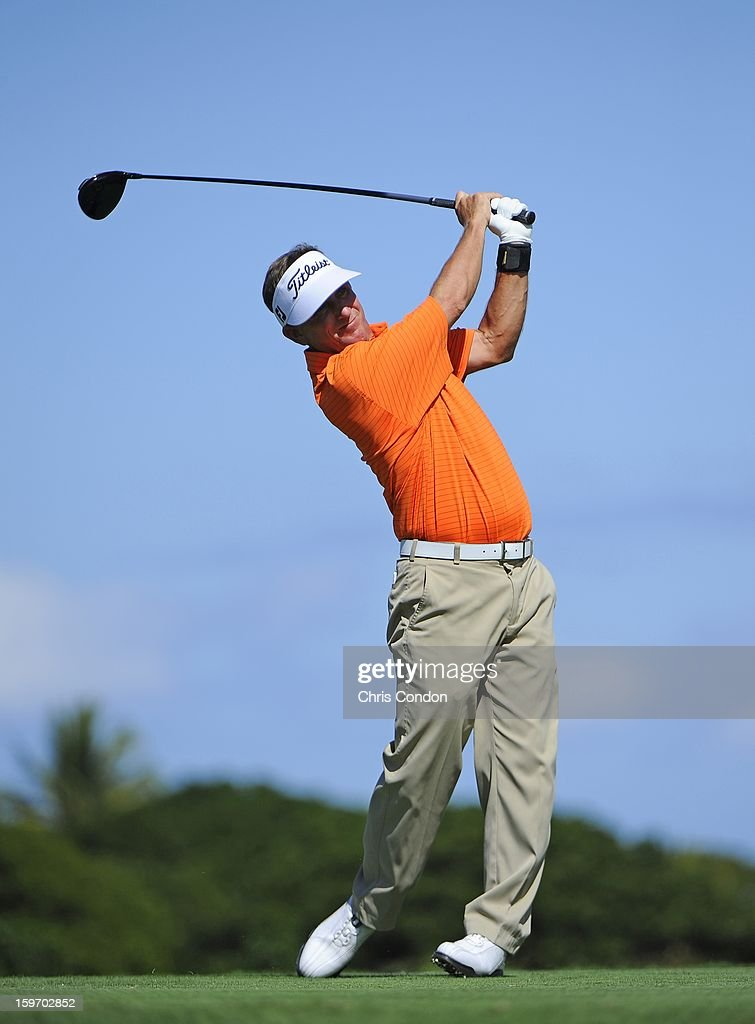 KA'UPULEHU-KONA, HI - JANUARY 18: Willie Wood plays from the second tee during the first round of the Mitsubishi Electric Championship at Hualalai Golf Club on January 18, 2013 in Ka'upulehu-Kona, Hawaii.