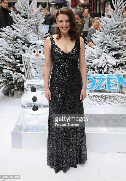 Williemijn Verkaik attends the celebrity screening of Disney's 'Frozen' on November 17 2013 in London United Kingdom