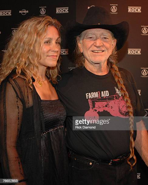 Willie's Wife Annie Nelson and Musician Willie Nelson arrive on The Green Carprt at The Launch of the Sustainable Biodiesel Alliance at the Hard Rock...