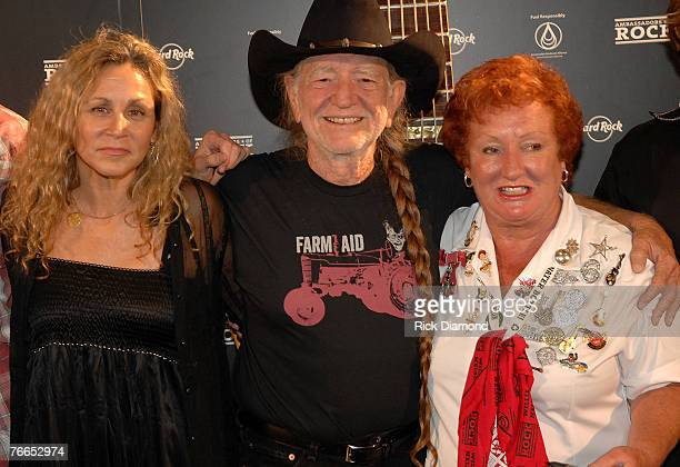Willie's Wife Annie Nelson Musician Willie Nelsonand Hard Rock Lady arrive on The Green Carprt at The Launch of the Sustainable Biodiesel Alliance at...