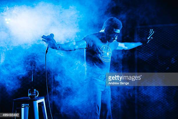 Willis Earl Beal performs on stage at Headrow House on December 1 2015 in Leeds England