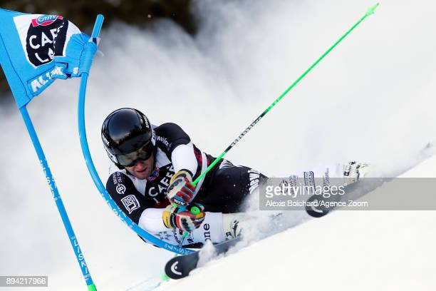 Willis Feasey of New Zealand competes during the Audi FIS Alpine Ski World Cup Men's Giant Slalom on December 17 2017 in Alta Badia Italy