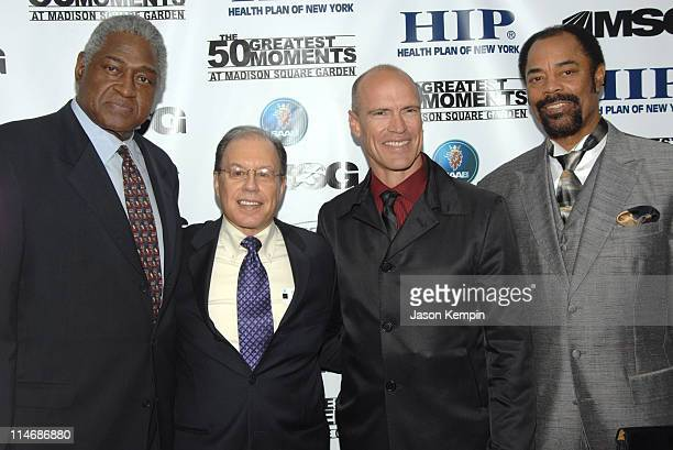 Willis Reed, George Kalinsky, Mark Messier and Walt Frazier