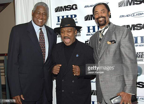 "Willis Reed, Joe Frazier and Walt Frazier during ""The 50 Greatest Moments At Madison Square Garden"" New York Screening - January 18, 2007 at The Club..."