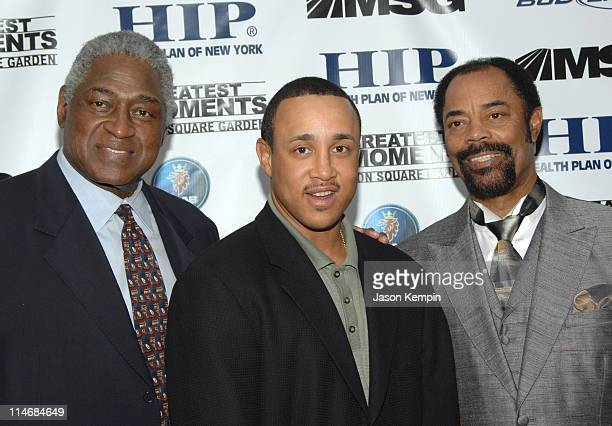 "Willis Reed, John Starks and Walt Frazier during ""The 50 Greatest Moments At Madison Square Garden"" New York Screening - January 18, 2007 at The Club..."