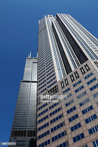 Willis Tower and 311 S Wacker Drive Building on April 4 2015 in Chicago Illinois