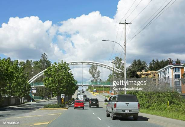 Willoughby Greenway Bridge Spans 200 Street, Langley, British Columbia