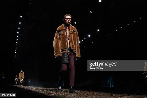 Willow Barrett walks the runway at the Coach Fall 2018 Show during New York Fashion Week on February 13 2018 in New York City