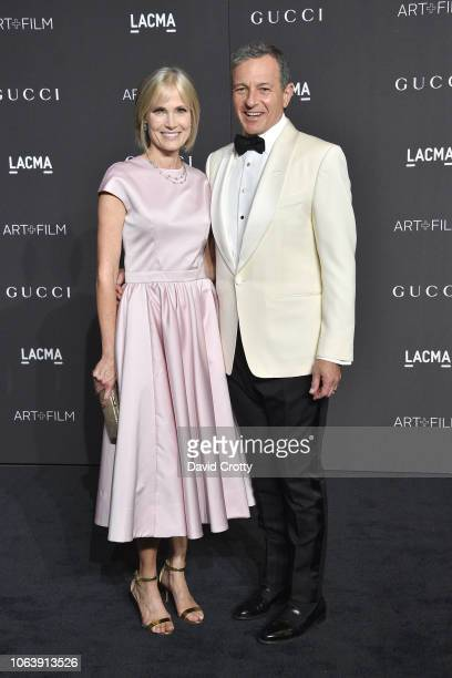Willow Bay and Bob Iger attend LACMA Art Film Gala 2018 at Los Angeles County Museum of Art on November 3 2018 in Los Angeles CA