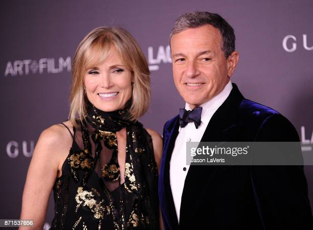 Willow Bay and Bob Iger attend the 2017 LACMA Art Film gala at LACMA on November 4 2017 in Los Angeles California