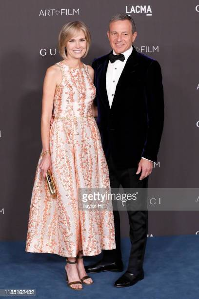 Willow Bay and Bob Iger attend the 2019 LACMA Art Film Gala at LACMA on November 02 2019 in Los Angeles California