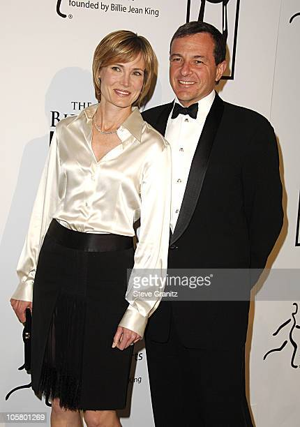Willow Bay and Bob Iger during 1st Annual The Billies Awards Arrivals at Beverly Hilton Hotel in Westwood California United States