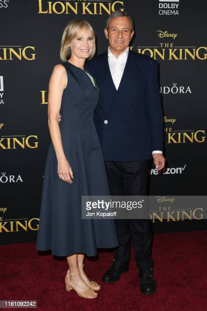 Willow Bay and Robert Iger attend the Premiere Of Disney's The Lion King at Dolby Theatre on July 09 2019 in Hollywood California