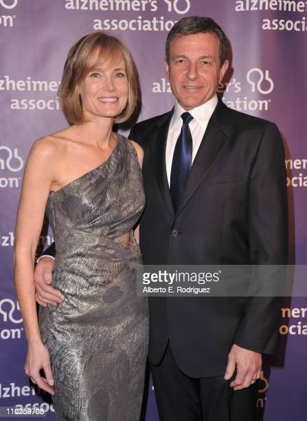 Willow Bay and Walt Disney Co Cherairman Robert Iger arrives to the 19th Annual A Night at Sardi's benefitting the Alzheimer's Association on March...