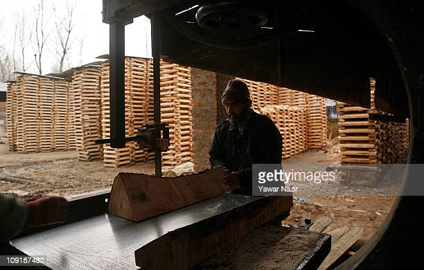 Willow clefts being manafactured to make it a cricket bat on February 16 2011 in Halmullah near Srinagar in Kashmir India Cricket bat manufacturers...