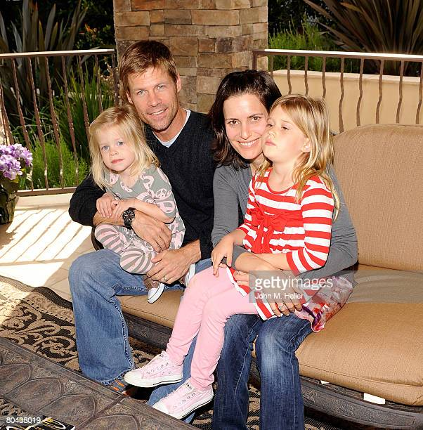 Willow Gretsch Joel Gretsch Melanie Shatner Gretsch and Kaya Gretsch attend the art opening of Giorgio Tuscani and Elizabeth Shatner on March 29 2008...