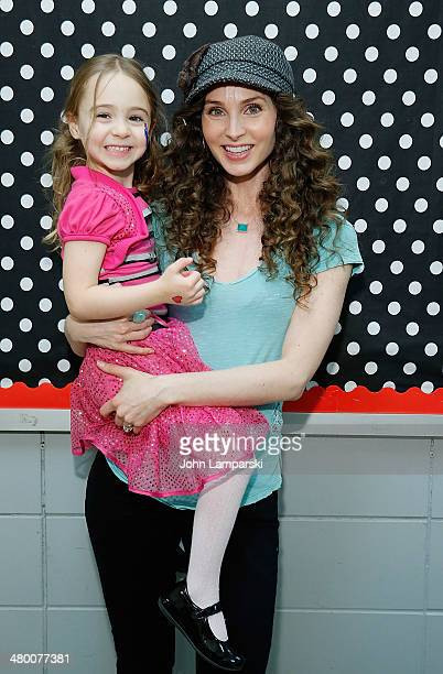 Willow Leonora Herschenfeld and actress Alicia Minshew attends Save The Music Foundation's 'Family Day' at The Anderson School on March 22 2014 in...