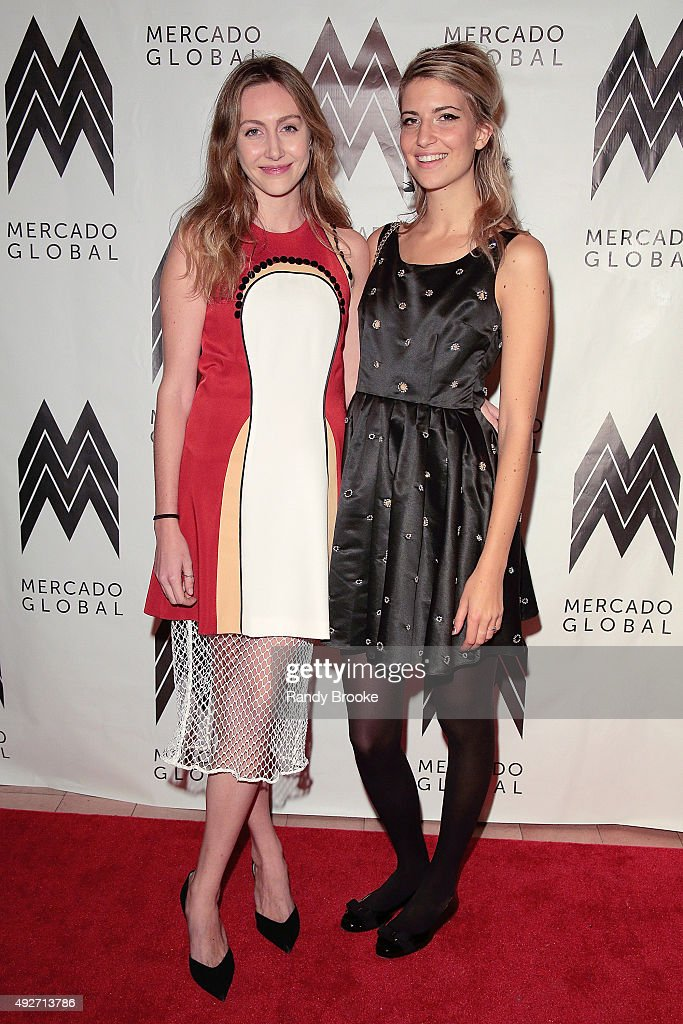 Willow Lindley and Rebecca Fourteau attend the 2015 Mercado Global Fashion Forward Gala at The Bowery Hotel on October 14, 2015 in New York City.