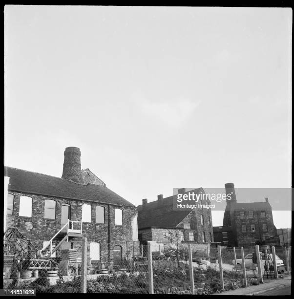 Willow Pottery Longton Normacot Road StokeonTrent 19651968 The buidlings of Willow Pottery viewed from Normacot Road with Bank Works visible in the...