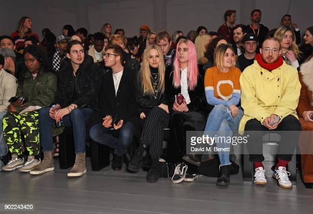 Willow Robinson Dominic Jones Jessica Horwell India Rose James Kara Rose Marshall and Tom Beard attend the Alex Mullins show during London Fashion...