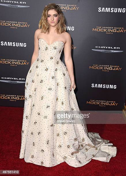 Willow Shields arrives at the Premiere Of Lionsgate's The Hunger Games Mockingjay Part 2 at Microsoft Theater on November 16 2015 in Los Angeles...