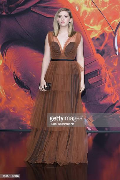 Willow Shields attends the world premiere of the film 'The Hunger Games: Mockingjay - Part 2' at CineStar on November 4, 2015 in Berlin, Germany.