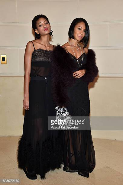 Willow Smith and Jada Pinkett Smith attend 'Chanel Collection des Metiers d'Art 2016/17 Paris Cosmopolite' Show on December 6 2016 in Paris France
