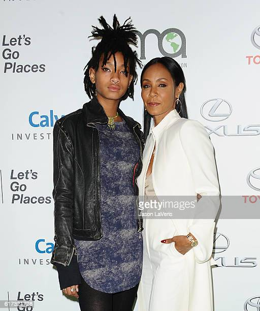 Willow Smith and Jada Pinkett Smith attend the 26th annual EMA Awards at Warner Bros Studios on October 22 2016 in Burbank California