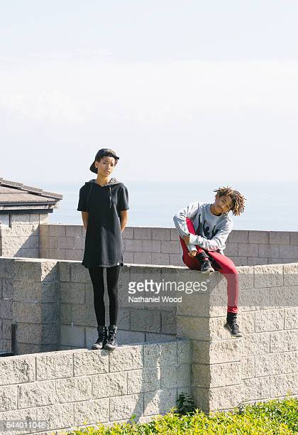 Willow Smith and Jaden Smith are photographed for New York Times on November 14 2014 in Malibu California