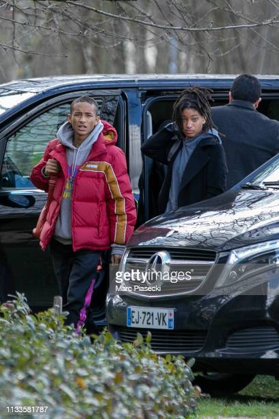 Willow Smith and Jaden Smith are seen on March 04 2019 in Paris France