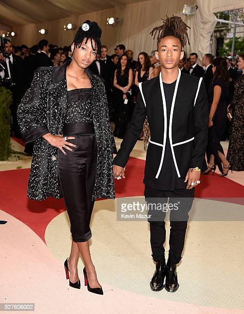 Willow Smith and Jaden Smith attend 'Manus x Machina Fashion In An Age Of Technology' Costume Institute Gala at Metropolitan Museum of Art on May 2...