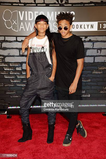 Willow Smith and Jaden Smith attend the 2013 MTV Video Music Awards at the Barclays Center on August 25 2013 in the Brooklyn borough of New York City
