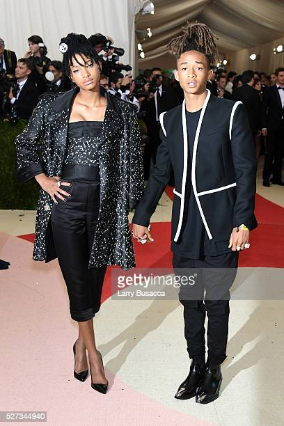 Willow Smith and Jaden Smith attend the 'Manus x Machina Fashion In An Age Of Technology' Costume Institute Gala at Metropolitan Museum of Art on May...