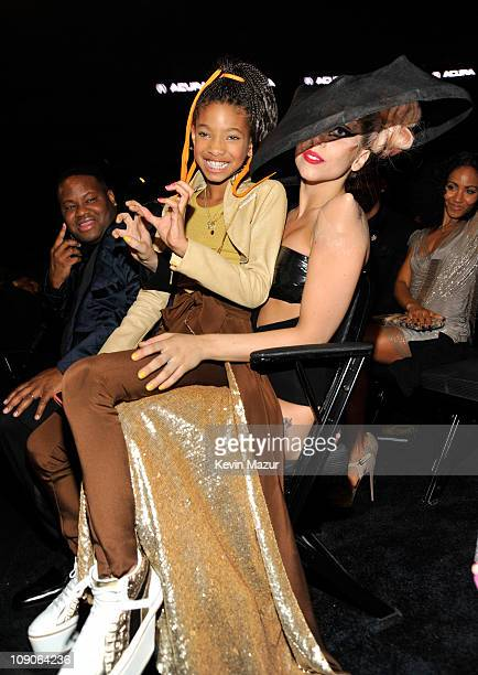 Willow Smith and Lady Gaga attends The 53rd Annual GRAMMY Awards held at Staples Center on February 13 2011 in Los Angeles California