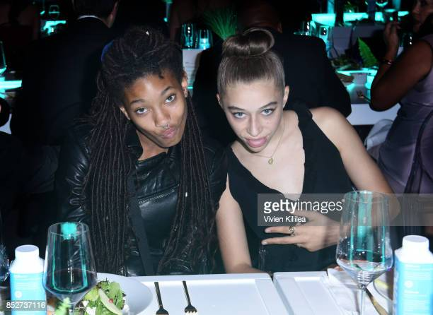 Willow Smith and Odessa Adlon at the Environmental Media Association's 27th Annual EMA Awards at Barkar Hangar on September 23 2017 in Santa Monica...