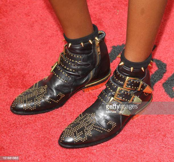 Willow Smith arrives at Free Angela All Political Prisoners premiere during the 2012 Toronto International Film Festival held at Roy Thomson Hall on...