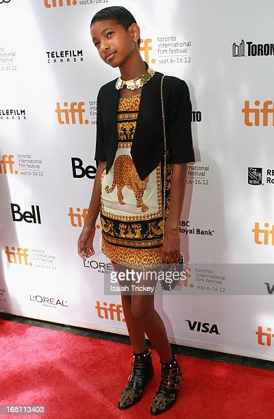 Willow Smith arrives at 'Free Angela All Political Prisoners' premiere during the 2012 Toronto International Film Festival held at Roy Thomson Hall...