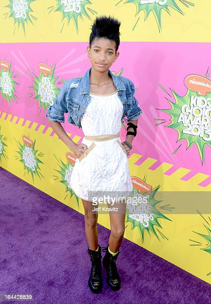 Willow Smith arrives at Nickelodeon's 26th Annual Kids' Choice Awards at USC Galen Center on March 23 2013 in Los Angeles California