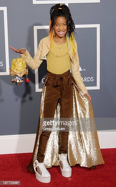 Willow Smith arrives for the 53rd Annual GRAMMY Awards at the Staples Center February 13 2011 in Los Angeles California