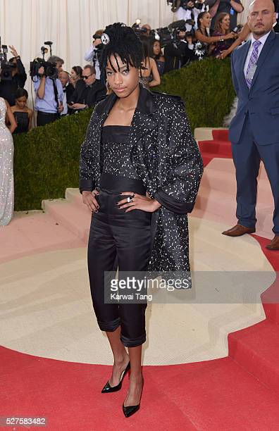 Willow Smith arrives for the 'Manus x Machina Fashion In An Age Of Technology' Costume Institute Gala at Metropolitan Museum of Art on May 2 2016 in...