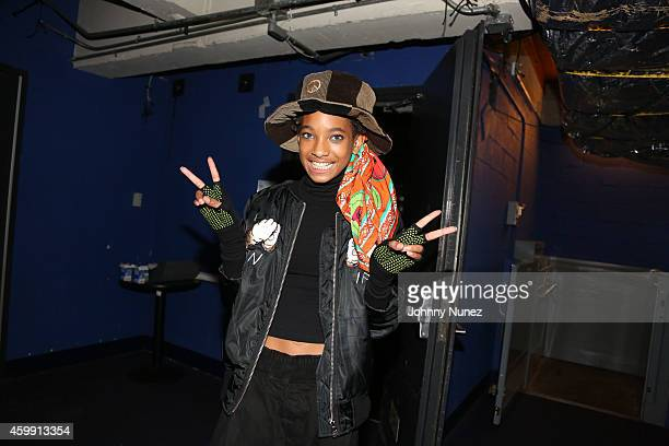 Willow Smith attends backstage at Best Buy Theater on December 3 2014 in New York City