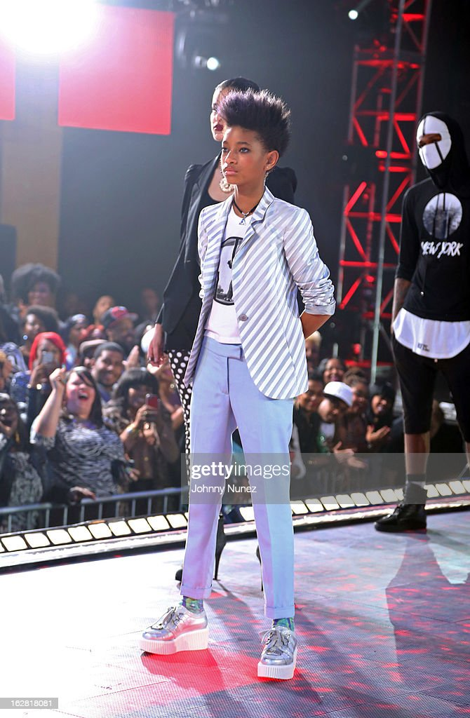 Willow Smith attends BET's Rip The Runway 2013 at Hammerstein Ballroom on February 27, 2013, in New York City.